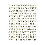 ネイルシール【貼るタイプ】スクリプト体アルファベットシール【642】ジェルネイル ネイル レジン アルファベット 筆記体 スクリプト体 英字 イニシャル