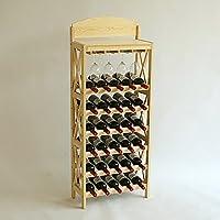 ワインラック、ワインラック収納ラック木製ワインラックディスプレイスタンド、4色 (色 : A)