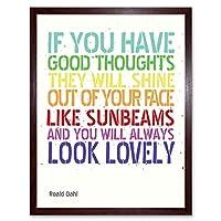 Good Thoughts Roald Dahl Art Print Framed Poster Wall Decor 12x16 inch 良いポスター壁デコ