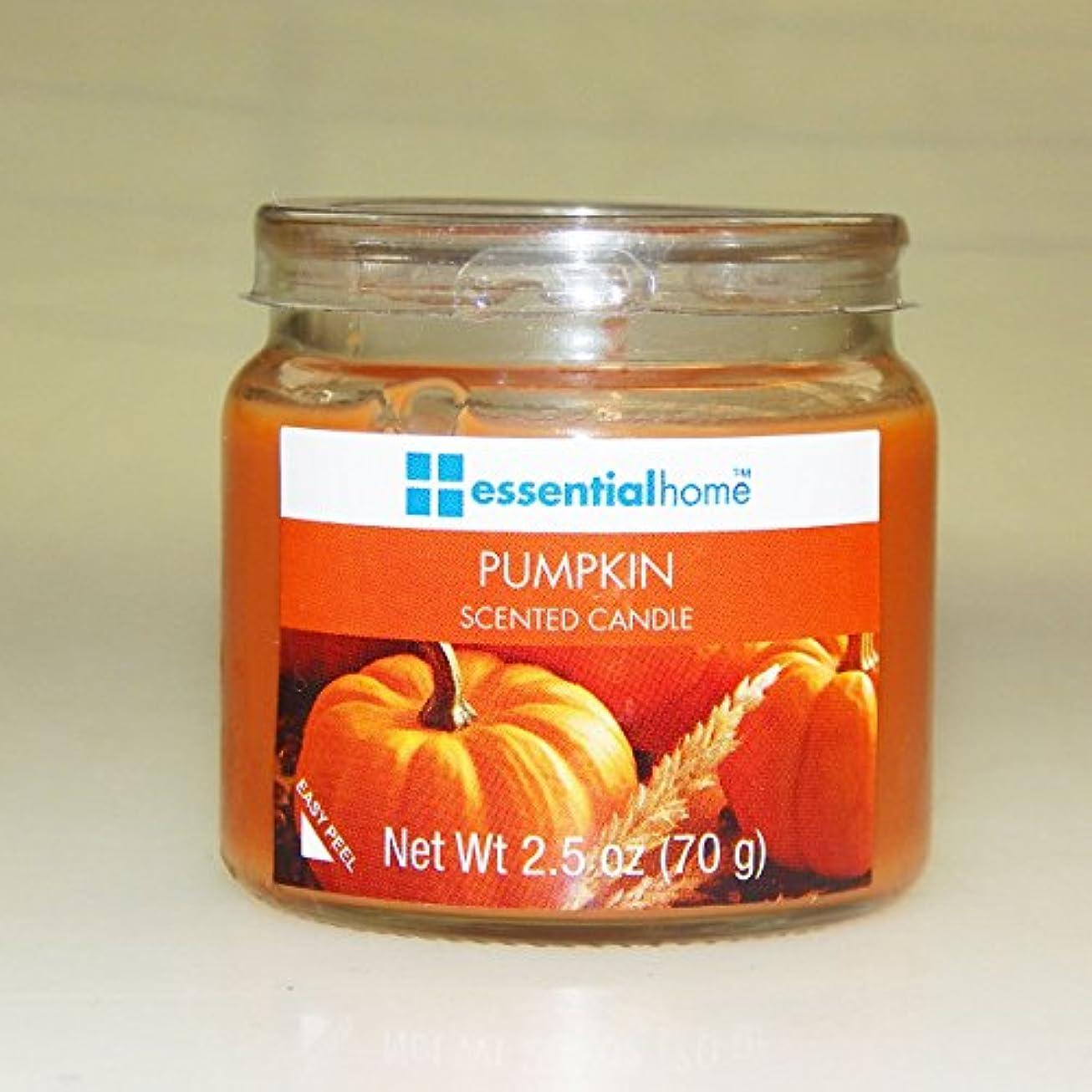 ねばねば放棄発揮する不可欠ホームPumpkin Spice香りつきJar Candle 2.5 Oz