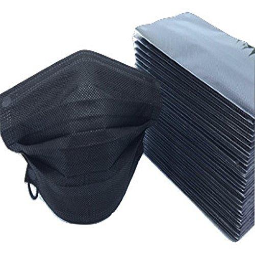 活性炭入りブラック マスク個別包装 黒マスク 50枚入 使い...