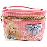 バービー Barbie サテン バニティポーチ ライトピンク 11665【Barbie ポーチ メイク ピンク 化粧】