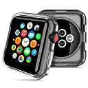 HOCO コンパチブル Apple Watch ケース アップルウォッチ カバー 透明 メッキ TPU 保護ケース 耐衝撃性 超簿 脱着簡単 Apple Watch Series 3 / 2に対応 全4色 クリア 42mm