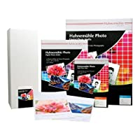 "Hahnemuhleフォト光沢17x 22""インクジェット写真用紙、290gsm、25シート、カットシートボックス"