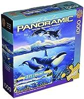 """パノラマのジグソー パズル 1000年ピース 13""""39""""、青の世界"""