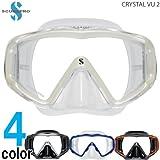 SCUBAPRO クリスタルビュー2マスク Crystal Vu 2 Mask (ブラックシルバー)