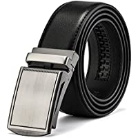 MUCO Mens Belt Leather Ratchet Belts With Automatic Buckle For Men