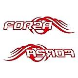 FORZA フォルツァ カッティング ステッカー 左右セット レッド 赤
