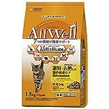 オールウェル(AllWell)キャットフード ドライ 避妊・去勢した猫の体重ケア 筋肉の健康維持用 チキン味 挽き小魚とささみフリーズドライパウダー入り 1.5kg 国産 ユニチャーム
