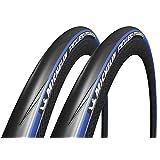 2本セット Michelin(ミシュラン) POWER endurance パワー エンデュランス クリンチャーロードタイヤ (ブルー, 700×25c) [並行輸入品]