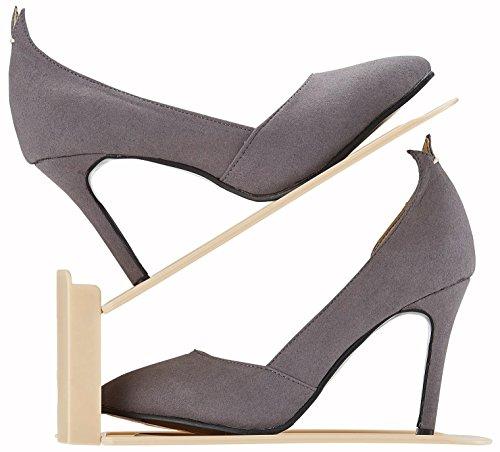 Like-it 靴ホルダー 高さ調節機能付き 6個入り ベージュ 218151