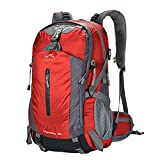 バックパック 35~40L 軽量 大容量 メンズ レディース登山 リュック レインカバー付きCREEPER(レッド)