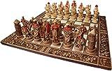 ARMA 陶器のチェスセット 十字軍 45cm ギリシャ製 (赤)