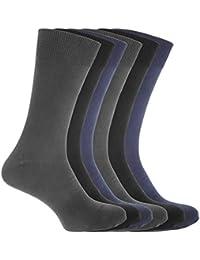 (フロソ) FLOSO メンズ コットンミックス ライクラソックス 紳士靴下セット ソックスセット(6足組) 男性用