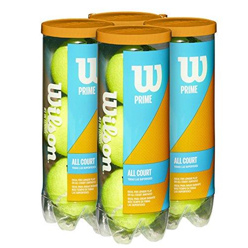 Wilson(ウイルソン) 硬式 テニスボール PRIME ALL COURT (プライム オールコート) 4缶 全12球入り WRT102204