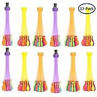 水風船(12束X37) 水爆弾ボール マジックバルーン 子供玩具 水遊び カラフル 水合戦 おもちゃ