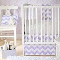 New Arrivals Zig Zag Baby 2 Piece Crib Bedding Set, Lavender by New Arrivals