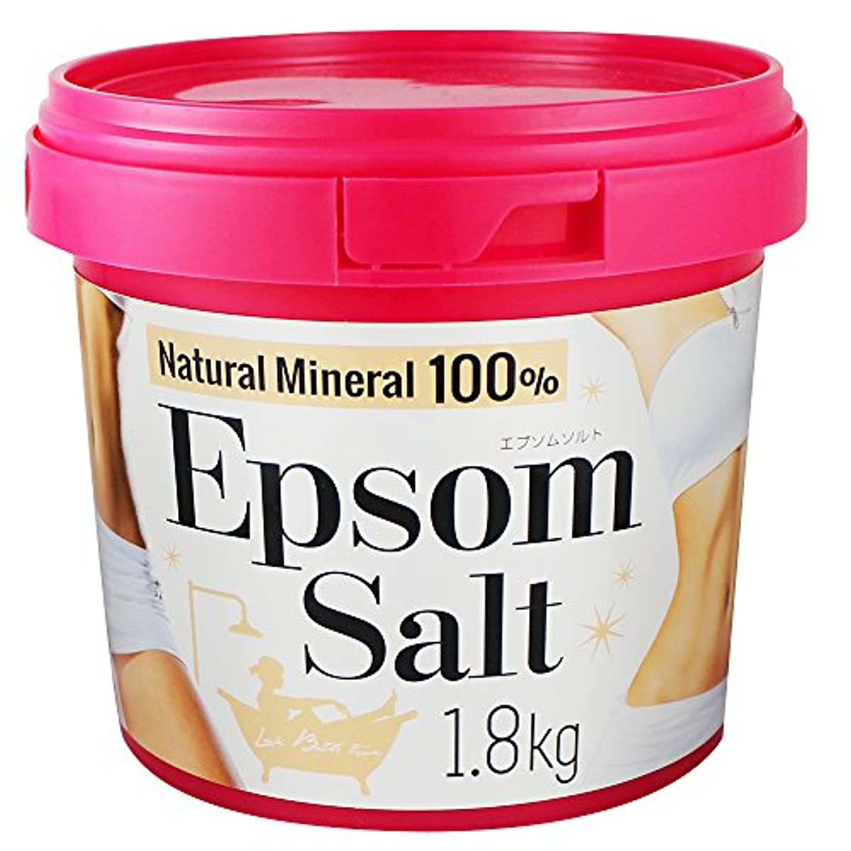 期間エキサイティング調整エプソムソルト バケツ入りバスソルト 1.8kg