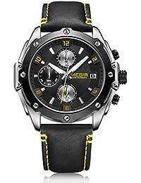 革バンド 合金 ケース ウォッチ クロノグラフ 防水 カレンダー オート日付 ビジネス クオーツ 腕時計