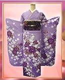 すぐ使えるお仕立上がり振袖ぜ~んぶ揃った豪華フルセット薄藤紫地紫薔薇