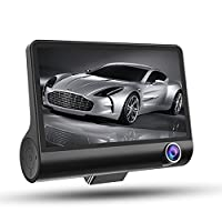 4インチIPSディスプレイフルHD 1080Pナイトビジョン車DVRビデオカメラレコーダー(カラー:ブラック)