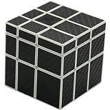 風の翼 滑らかな3x3x3不等マジックキューブ、炭素繊維ステッカー3x3ミラーパズルキューブ (白) 6歳以上に適しています