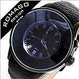 ロマゴデザイン腕時計 ROMAGODESIGN時計 ROMAGO DESIGN 腕時計 ロマゴ デザイン 時計 ヌメレーションシリーズ Numeration series メンズ/シルバーミラー RM007-0053ST-BK