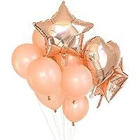 fenleo 14個ローズゴールドホイルバルーン&ラテックスBallonセット結婚式、誕生日、ブライダルシャワー、ベビーシャワー、パーティー装飾