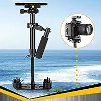 ハンドヘルドスタビライザー アルミ合金 デジタル一眼レフカメラ DVカムコーダー用 ブラック