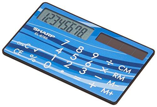 シャープ 電卓 EL-878S-X カード・クレジットカードタイプ