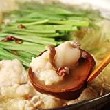 【Amazon.co.jp限定】送料無料 メガ盛り牛もつ500g 博多名物しろ味噌もつ鍋セット 〆のちゃんぽん麺付き