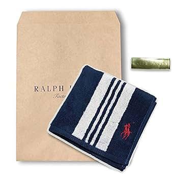 ギフトに最適ラルフローレン【RALPH LAUREN】ハンドタオル A1 パティオストライプ(ネイビー) A1 | ハンカチ・バンダナ | 服&ファッション小物 通販