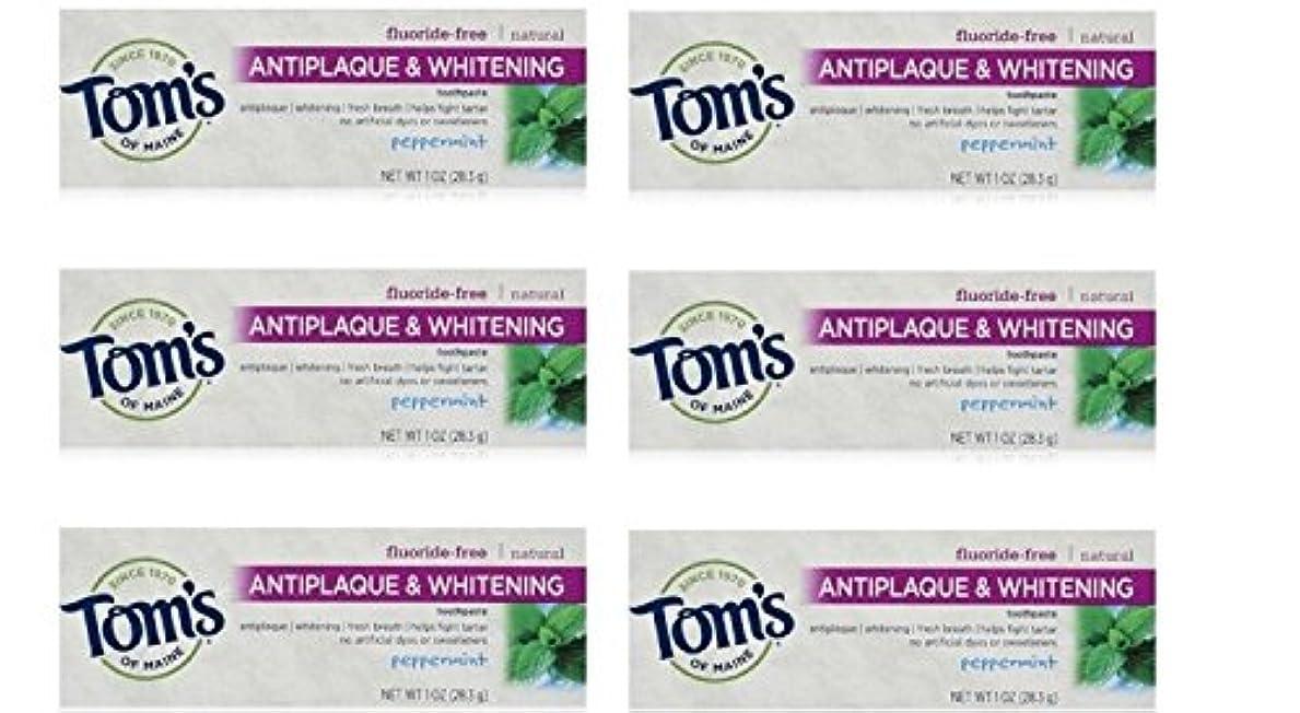 チーム市民値するTom's of Maine Natural Antiplaque Tartar Control & Whitening Toothpaste Peppermint 1 oz Travel Size by Tom's of...