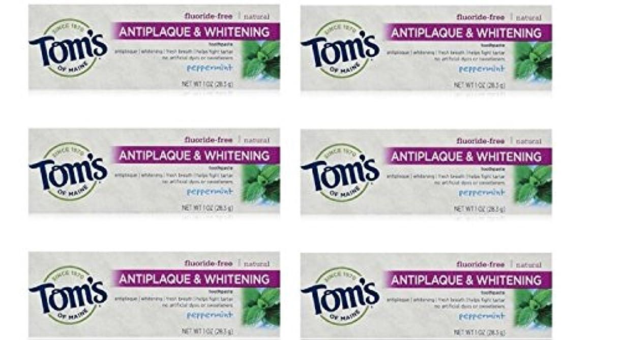 ささやきアドバンテージおもてなしTom's of Maine Natural Antiplaque Tartar Control & Whitening Toothpaste Peppermint 1 oz Travel Size by Tom's of...