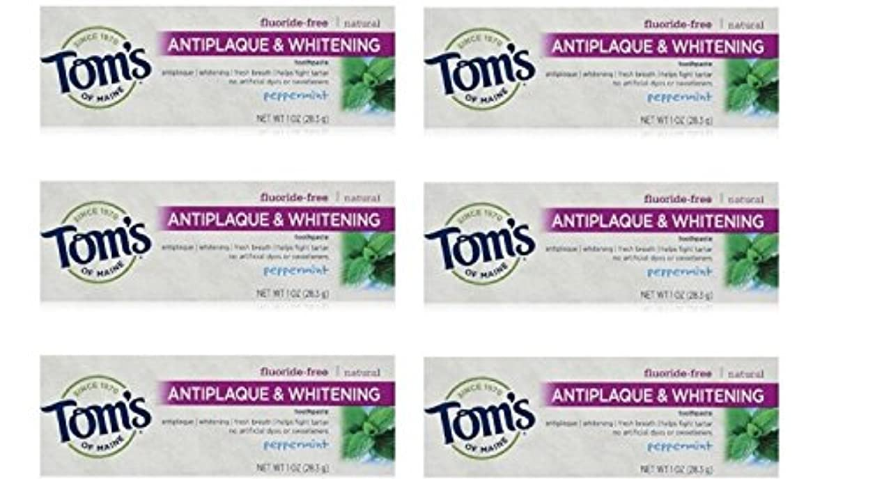 コンサート提供する宣言するTom's of Maine Natural Antiplaque Tartar Control & Whitening Toothpaste Peppermint 1 oz Travel Size by Tom's of...
