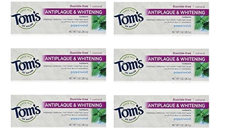 満足させる古くなったキャロラインTom's of Maine Natural Antiplaque Tartar Control & Whitening Toothpaste Peppermint 1 oz Travel Size by Tom's of Maine