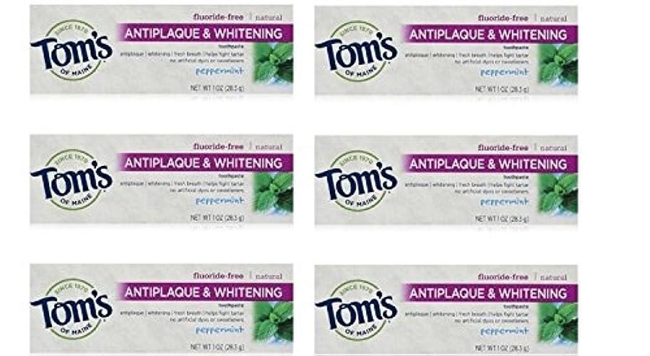 コミュニケーション蜂去るTom's of Maine Natural Antiplaque Tartar Control & Whitening Toothpaste Peppermint 1 oz Travel Size by Tom's of...