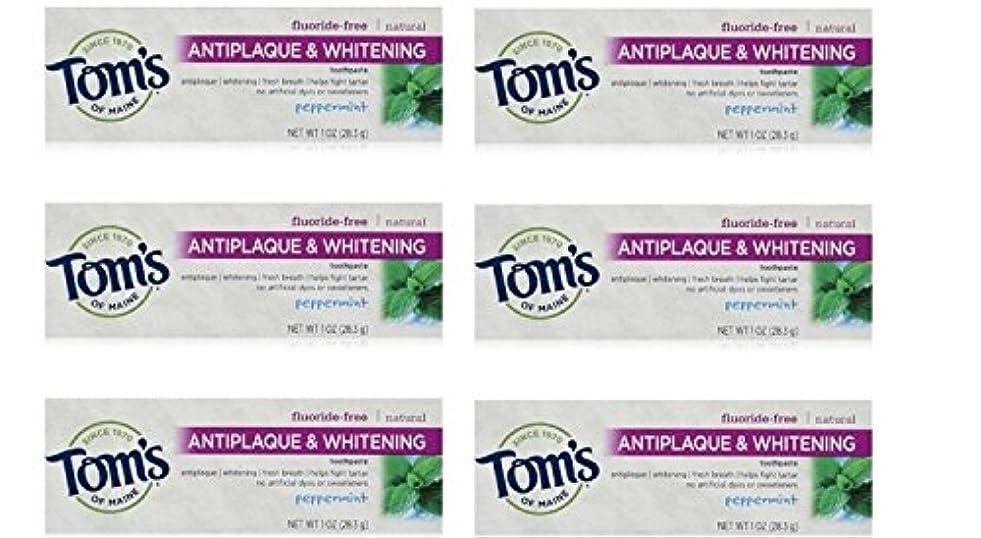 振る舞いカスケード集中的なTom's of Maine Natural Antiplaque Tartar Control & Whitening Toothpaste Peppermint 1 oz Travel Size by Tom's of...