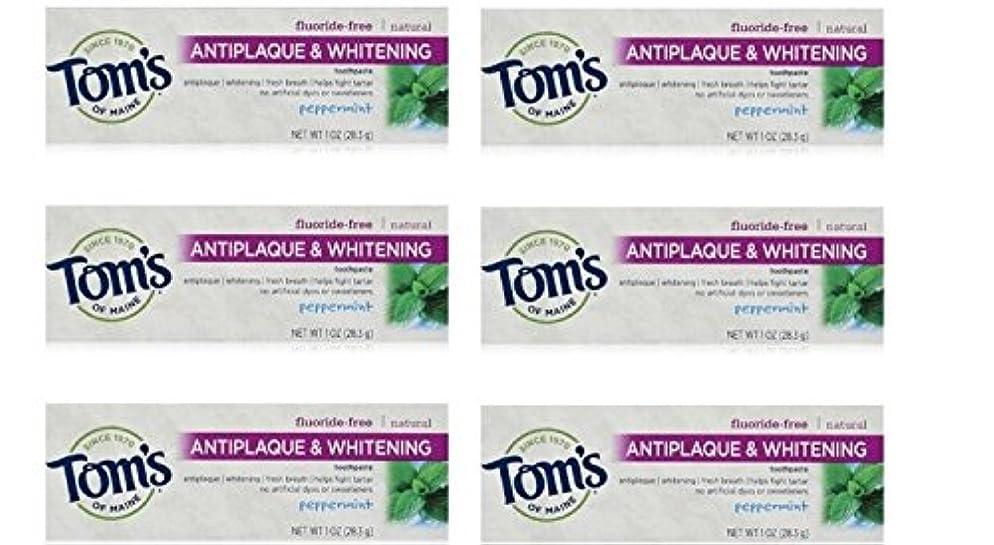 日付付きショルダー暴露するTom's of Maine Natural Antiplaque Tartar Control & Whitening Toothpaste Peppermint 1 oz Travel Size by Tom's of Maine