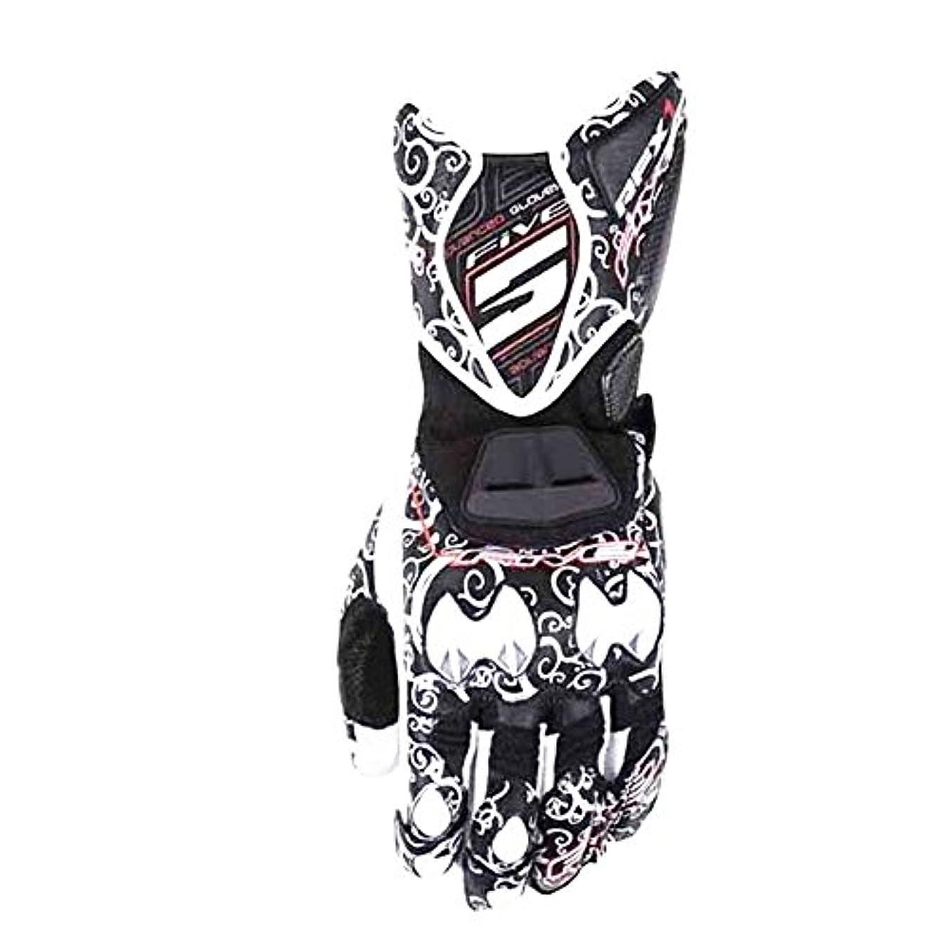 自動マイクロフォンジャーナル快適 レーシングオートバイの手袋を印刷する オートバイ登山トレッキング狩猟野外スポーツ用品グローブフルフィンガーサイクリング用手袋 (色 : ブラック, サイズ : XL)