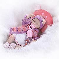 NPKDOLLシミュレーションRebornベビー人形ソフトSiliconeビニール18インチ45 cm Lifelike Vivid Boy Girlおもちゃレッド枕目閉じ