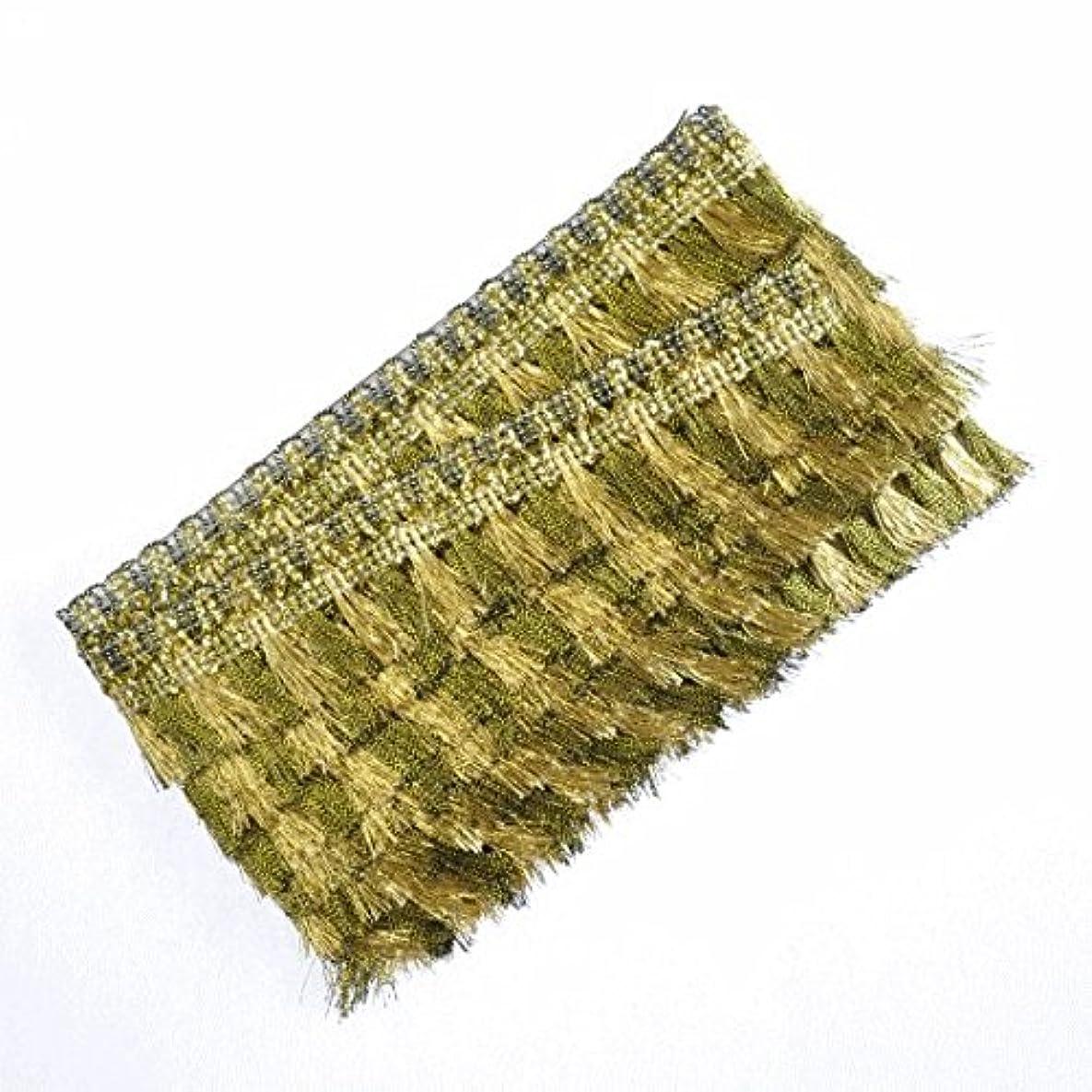 メタン悪性腫瘍柔らかいゴールド フリンジブレード 長さ5ヤード(約4.5m) カルトナージュや衣装に