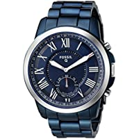 Fossil Men's Q Grant Hybrid Smartwatch Blue Watch, (FTW1140)