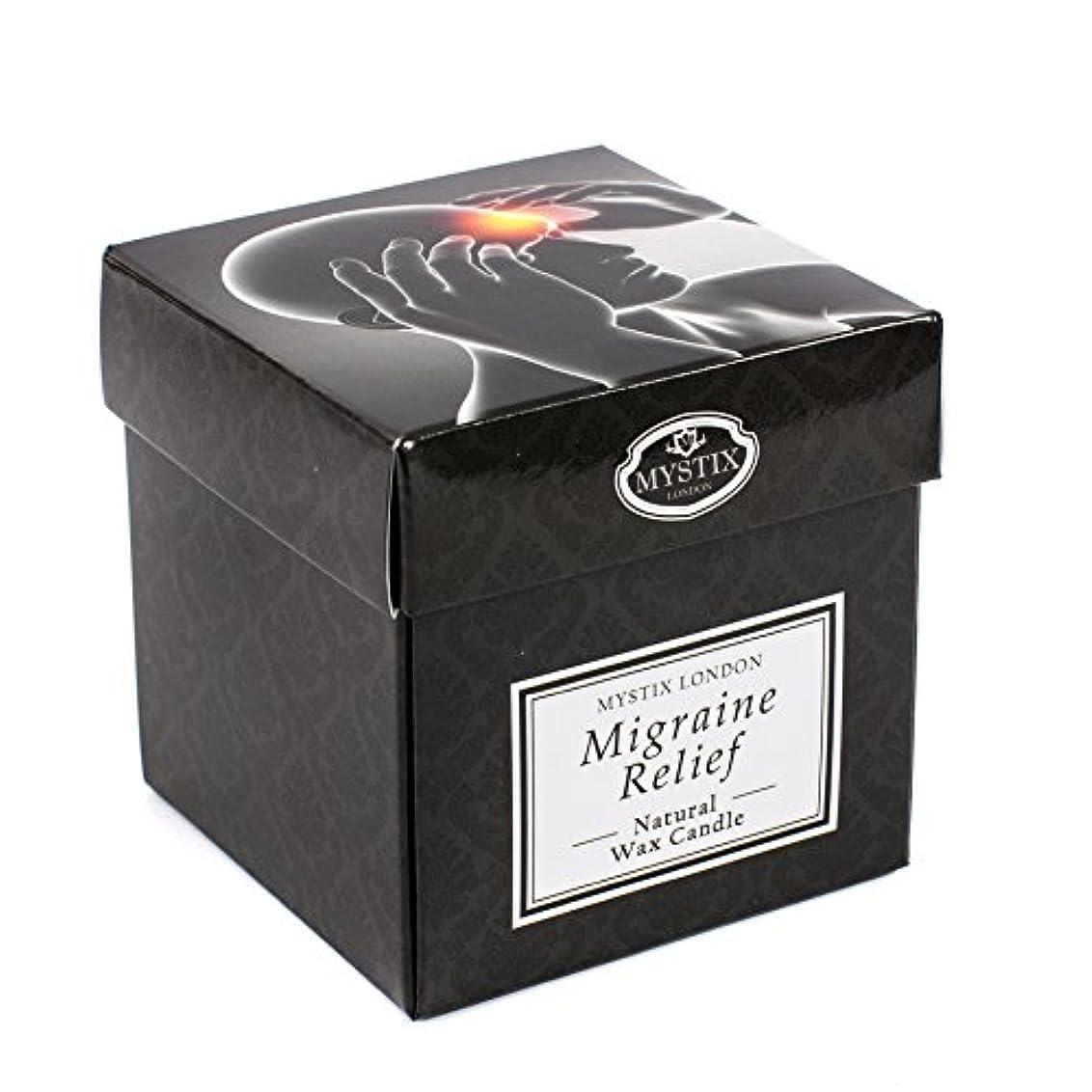 航空便オーク土砂降りMystix London   Migraine Relief Scented Candle - Large