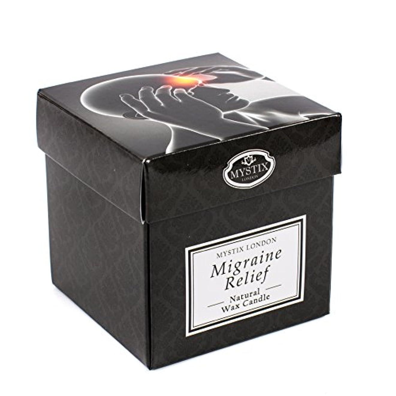 意味ウィザードユニークなMystix London   Migraine Relief Scented Candle - Large