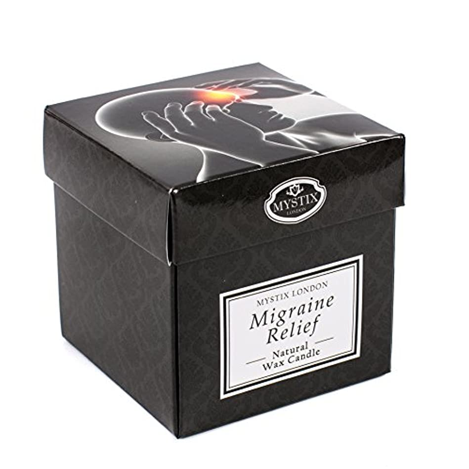 植物の認証売り手Mystix London | Migraine Relief Scented Candle - Large