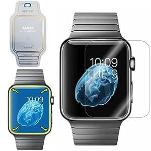 Apple Watch  LCD 液晶 保護フィルム ラウンド部分まで覆える 傷・割れ防止 衝撃吸収 i Match (38mm)