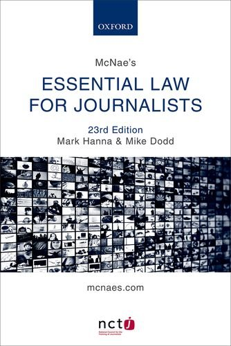 Download McNae's Essential Law for Journalists 0198748353