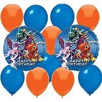 12 pc Skylanders Party Balloons Kit: 2 Mylar 5 Blue 5 Orange Latex by 5Star-TD [並行輸入品]