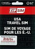 ZIP SIM データ通信+SMS(2GB、30日間)アメリカ用プリペイドSIM (※旧名称 READY SIM 2016年4月より商品名・パッケージが変更となりました)